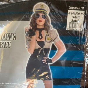 Shakedown Sheriff Small Women's Costume
